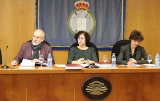De esq. a dta.: Gumersindo Guinarte, Patricia Faraldo, Inma Valeije