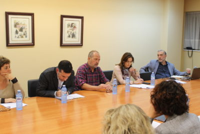 De izqda. a dcha.: Asunción Colás, Alberto Alonso, Javier Mira, Lucía Martínez Garay, Miguel Díaz y García-Conlledo