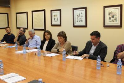 De izqda. a dcha.: Robson Galvao, José A. Brandariz, José L. González Cussa, Vicenta Cervelló, Asunción Colás, Alberto Alonso