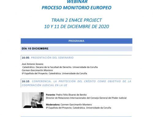 Webinar Proceso Monitorio Europeo: 10-11 diciembre 2020