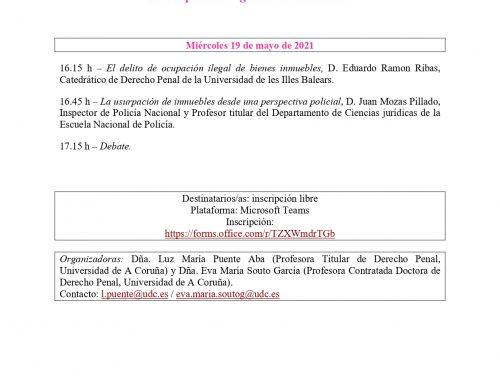 """Webinarios """"Ganancias ilícitas y Derecho penal"""""""