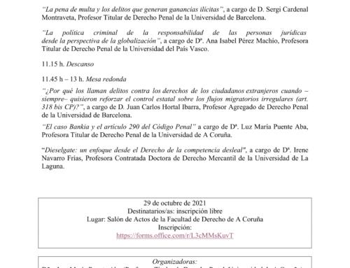 """Próximo Seminario: IV Seminario """"Ganancias ilícitas y Derecho penal"""""""